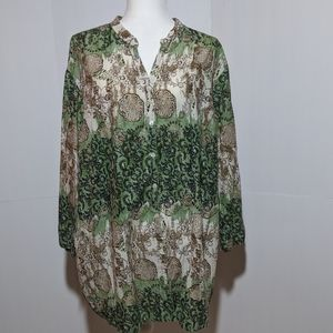 Cato  Floral Patterned Top 22/24W
